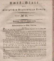 Amts-Blatt der Königlichen Regierung zu Danzig, 17. Juni 1840, Nr. 25
