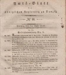 Amts-Blatt der Königlichen Regierung zu Danzig, 24. Juni 1840, Nr. 26