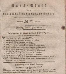 Amts-Blatt der Königlichen Regierung zu Danzig, 1. Juli 1840, Nr. 27