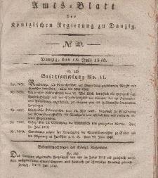 Amts-Blatt der Königlichen Regierung zu Danzig, 15. Juli 1840, Nr. 29