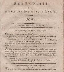 Amts-Blatt der Königlichen Regierung zu Danzig, 22. Juli 1840, Nr. 30