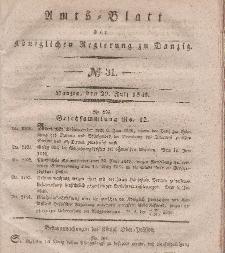 Amts-Blatt der Königlichen Regierung zu Danzig, 29. Juli 1840, Nr. 31
