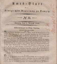 Amts-Blatt der Königlichen Regierung zu Danzig, 5. August 1840, Nr. 32