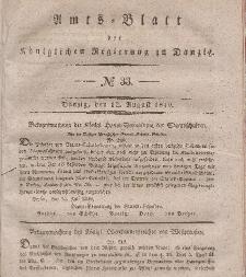 Amts-Blatt der Königlichen Regierung zu Danzig, 12. August 1840, Nr. 33