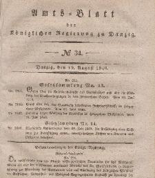 Amts-Blatt der Königlichen Regierung zu Danzig, 19. August 1840, Nr. 34