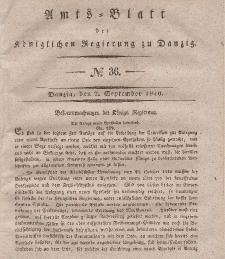Amts-Blatt der Königlichen Regierung zu Danzig, 2. September 1840, Nr. 36