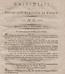 Amts-Blatt der Königlichen Regierung zu Danzig, 9. September 1840, Nr. 37