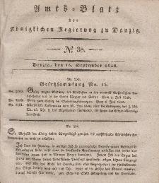 Amts-Blatt der Königlichen Regierung zu Danzig, 16. September 1840, Nr. 38