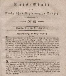 Amts-Blatt der Königlichen Regierung zu Danzig, 14. Oktober 1840, Nr. 42