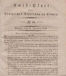 Amts-Blatt der Königlichen Regierung zu Danzig, 28. Oktober 1840, Nr. 44
