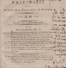 Amts-Blatt der Königlichen Regierung zu Danzig, 11. November 1840, Nr. 46