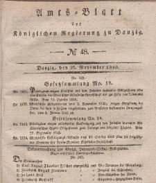Amts-Blatt der Königlichen Regierung zu Danzig, 25. November 1840, Nr. 48