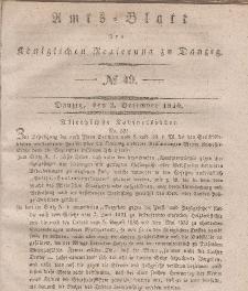 Amts-Blatt der Königlichen Regierung zu Danzig, 2. Dezember 1840, Nr. 49