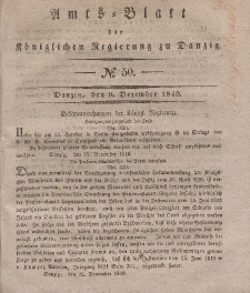 Amts-Blatt der Königlichen Regierung zu Danzig, 9. Dezember 1840, Nr. 50