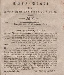 Amts-Blatt der Königlichen Regierung zu Danzig, 16. Dezember 1840, Nr. 51