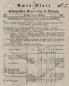 Amts-Blatt der Königlichen Regierung zu Danzig, 6. Januar 1864, Nr. 1