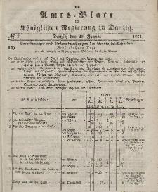 Amts-Blatt der Königlichen Regierung zu Danzig, 20. Januar 1864, Nr. 3