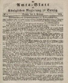 Amts-Blatt der Königlichen Regierung zu Danzig, 3. Februar 1864, Nr. 5