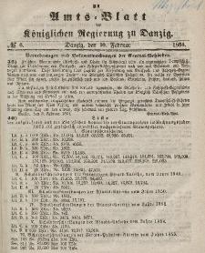 Amts-Blatt der Königlichen Regierung zu Danzig, 10. Februar 1864, Nr. 6