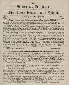 Amts-Blatt der Königlichen Regierung zu Danzig, 17. Februar 1864, Nr. 7