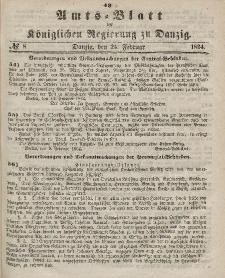 Amts-Blatt der Königlichen Regierung zu Danzig, 24. Februar 1864, Nr. 8