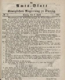 Amts-Blatt der Königlichen Regierung zu Danzig, 6. Aprlil 1864, Nr. 14