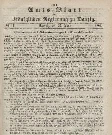 Amts-Blatt der Königlichen Regierung zu Danzig, 27. Aprlil 1864, Nr. 17
