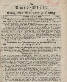 Amts-Blatt der Königlichen Regierung zu Danzig, 25. Mai 1864, Nr. 21