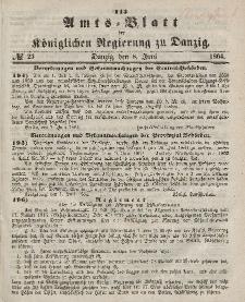 Amts-Blatt der Königlichen Regierung zu Danzig, 8. Juni 1864, Nr. 23