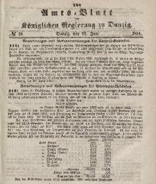 Amts-Blatt der Königlichen Regierung zu Danzig, 22. Juni 1864, Nr. 25