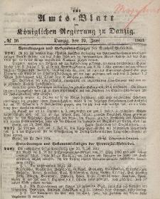 Amts-Blatt der Königlichen Regierung zu Danzig, 29. Juni 1864, Nr. 26