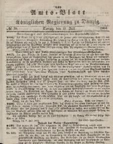 Amts-Blatt der Königlichen Regierung zu Danzig, 13. Juli 1864, Nr. 28