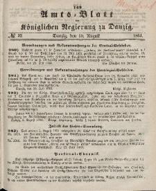Amts-Blatt der Königlichen Regierung zu Danzig, 10. August 1864, Nr. 32