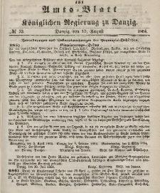 Amts-Blatt der Königlichen Regierung zu Danzig, 17. August 1864, Nr. 33