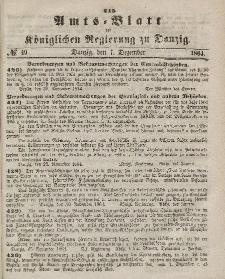 Amts-Blatt der Königlichen Regierung zu Danzig, 7. Dezember 1864, Nr. 49