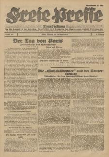 Freie Presse, Nr. 201 Dienstag 28. August 1928 4. Jahrgang