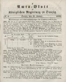 Amts-Blatt der Königlichen Regierung zu Danzig, 23. Januar 1861, Nr. 4