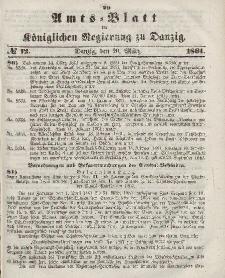 Amts-Blatt der Königlichen Regierung zu Danzig, 20. März 1861, Nr. 12