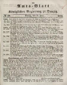 Amts-Blatt der Königlichen Regierung zu Danzig, 19. Juni 1861, Nr. 25