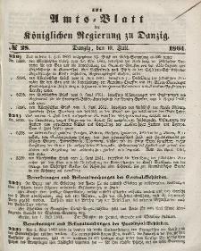 Amts-Blatt der Königlichen Regierung zu Danzig, 10. Juli 1861, Nr. 28