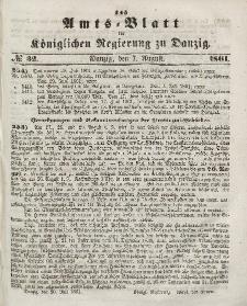 Amts-Blatt der Königlichen Regierung zu Danzig, 7. August 1861, Nr. 32