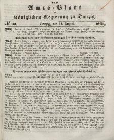 Amts-Blatt der Königlichen Regierung zu Danzig, 14. August 1861, Nr. 33