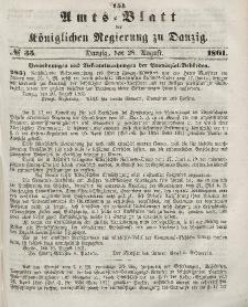 Amts-Blatt der Königlichen Regierung zu Danzig, 28. August 1861, Nr. 35