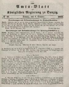 Amts-Blatt der Königlichen Regierung zu Danzig, 9. Oktober 1861, Nr. 41