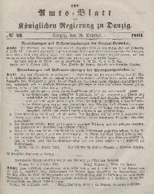 Amts-Blatt der Königlichen Regierung zu Danzig, 16. Oktober 1861, Nr. 42