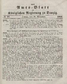 Amts-Blatt der Königlichen Regierung zu Danzig, 20. November 1861, Nr. 47