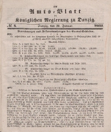 Amts-Blatt der Königlichen Regierung zu Danzig, 29. Januar 1862, Nr. 5