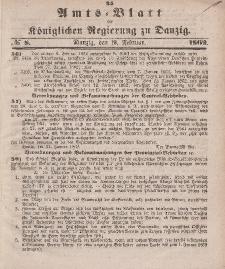 Amts-Blatt der Königlichen Regierung zu Danzig, 19. Februar 1862, Nr. 8