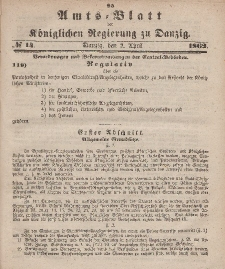 Amts-Blatt der Königlichen Regierung zu Danzig, 2. April 1862, Nr. 14