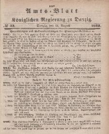 Amts-Blatt der Königlichen Regierung zu Danzig, 13. August 1862, Nr. 33